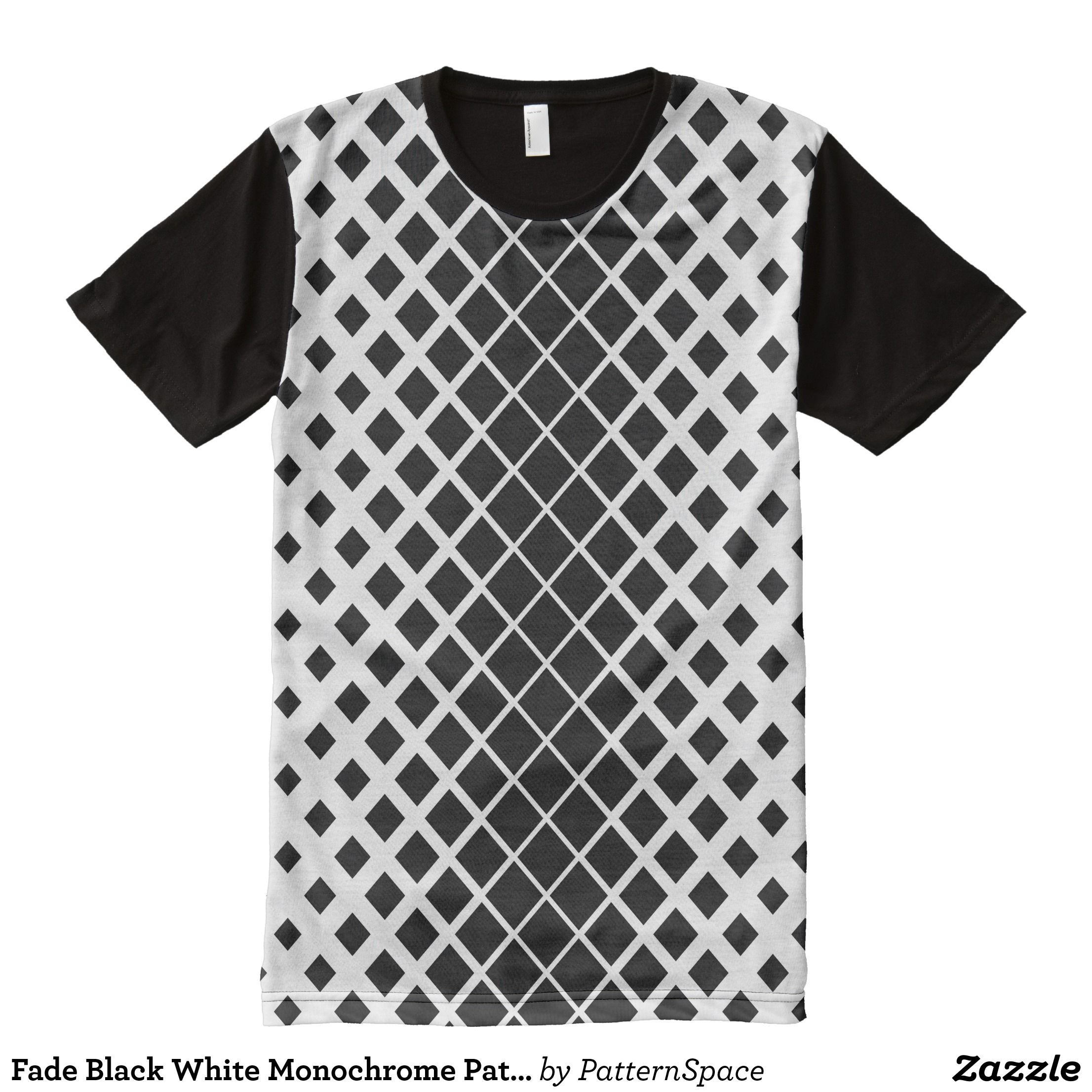 Fade to Black All Over Mens T Shirt