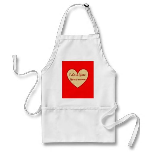 Customizable text 'I love you' Apron #valentinesgift http://www.zazzle.com/customizable_i_love_you_gifts_apron-154011577275003725?rf=238909315443825159&tc=pinterest