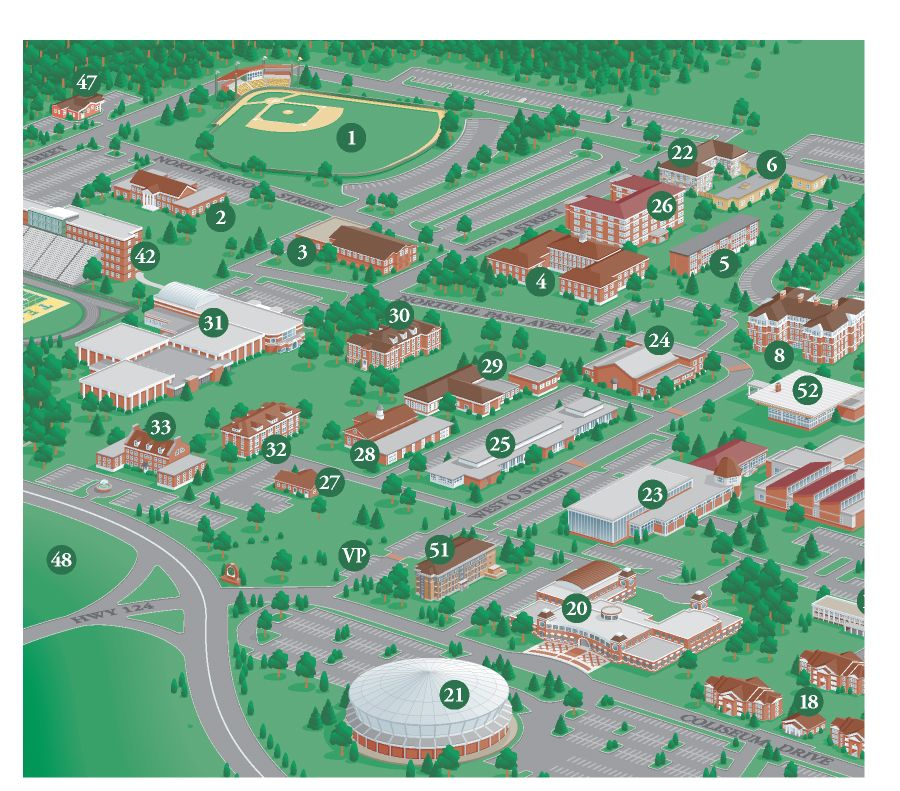 Millersville University Map 3D College Campus Map Illustration of Arkansas Technical