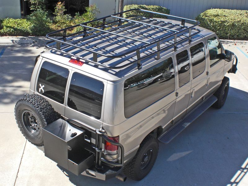 Aluminum Off Road Roof Rack For A Ford Econoline Van Van Roof
