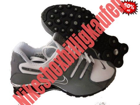 2014 Weiß Grau Schwarz Nike Shox NZ Schuhe Herren NDOA