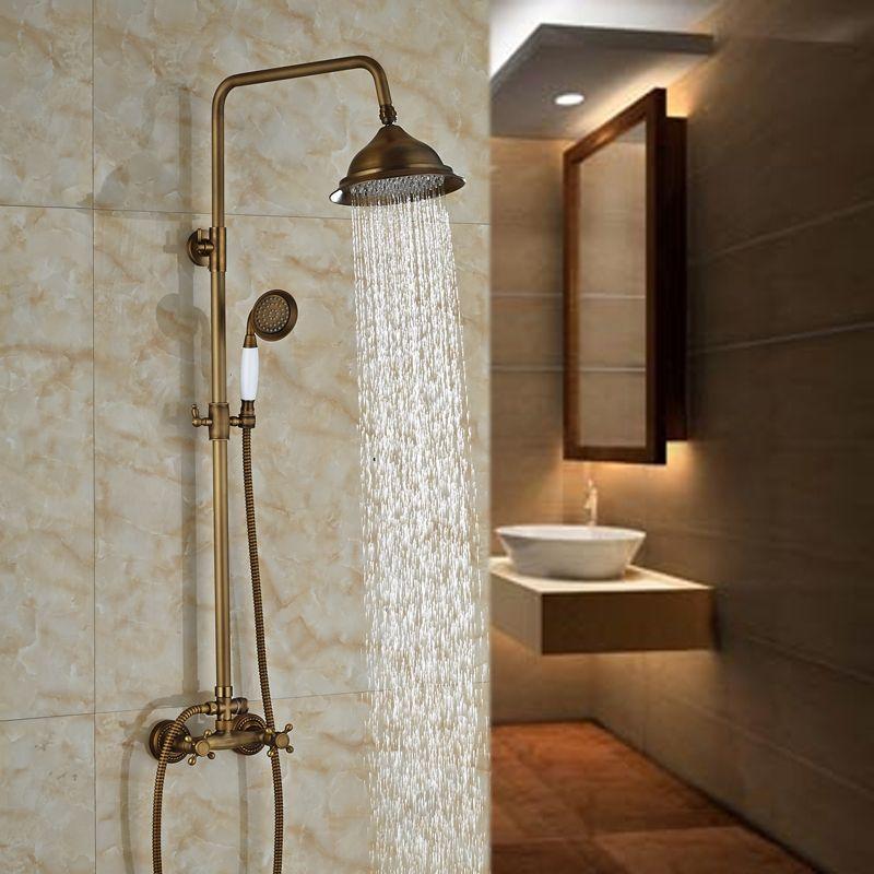 $96.00 | Buy Antique Rain Outdoor Bathroom Shower Faucet set with ...