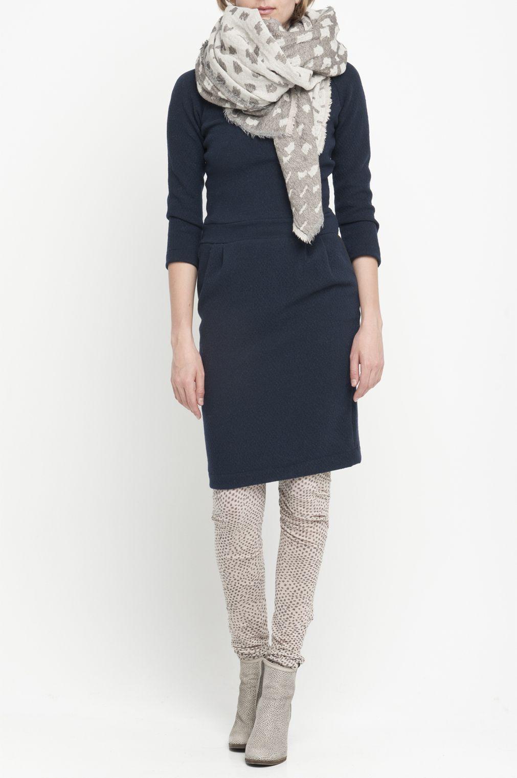 sjaal bij jurk