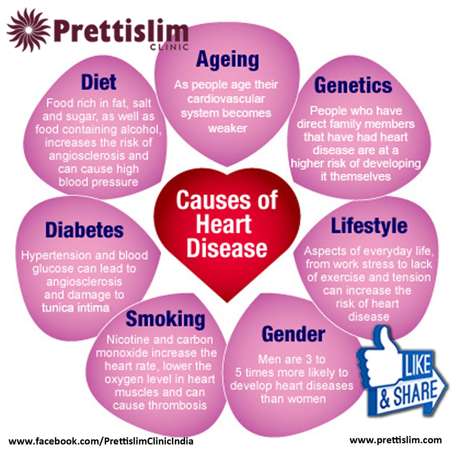Causes Of #Heartdisease by #Prettislim Clinic | Indian Independence