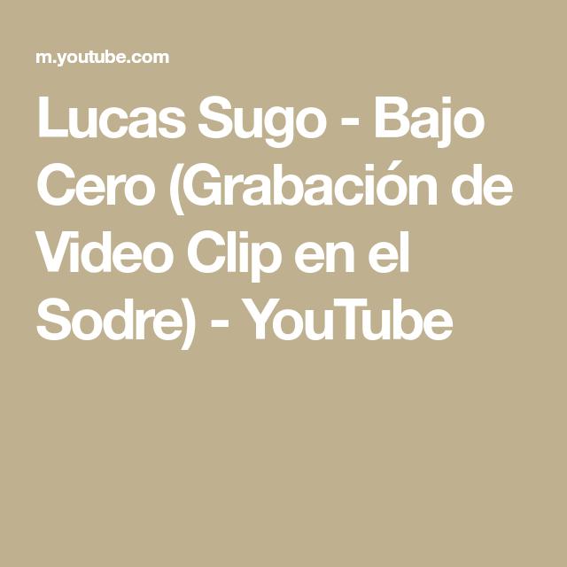 Lucas Sugo Bajo Cero Grabación De Video Clip En El Sodre Youtube Videoclip Lucas Sugo Grabación De Vídeo