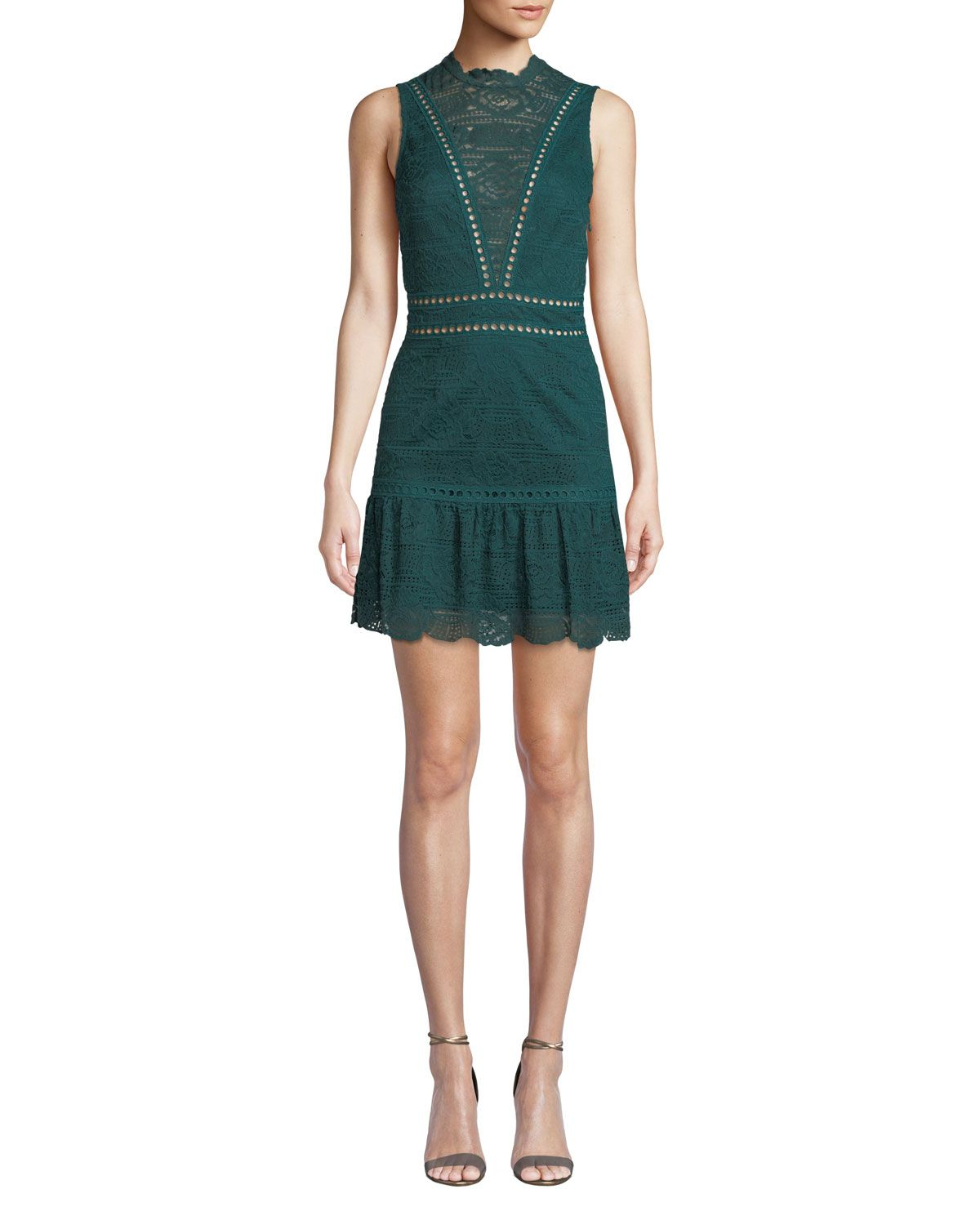 Saylor Rosemary Lace Open Back Mini Dress In 2019 Dresses