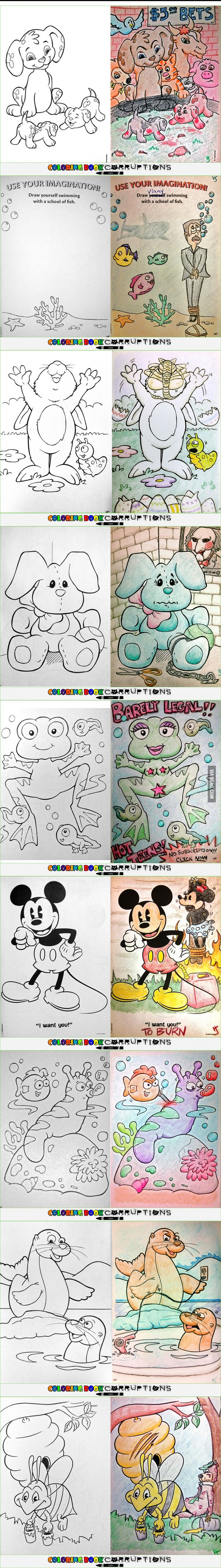 Coloring Book Corruptions Corrupt Coloring Book Coloring Books Best Funny Pictures