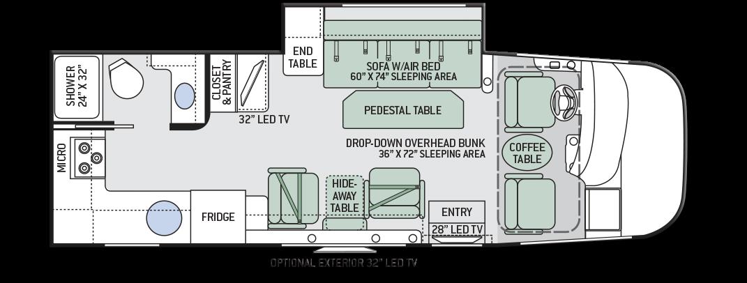 Thor Axis 24 2 Motorhome Floor Plan Motorhome Reviews