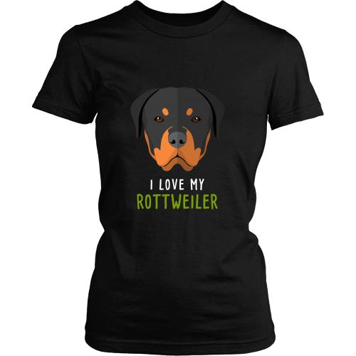 I love my Rottweiler Dogs T-shirt