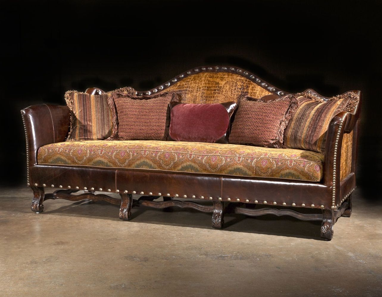 Bon Sofa Couch Alligator Leather Cool Furniture