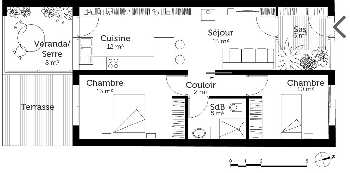 plan maison plain pied longueur | Small Homes | Pinterest