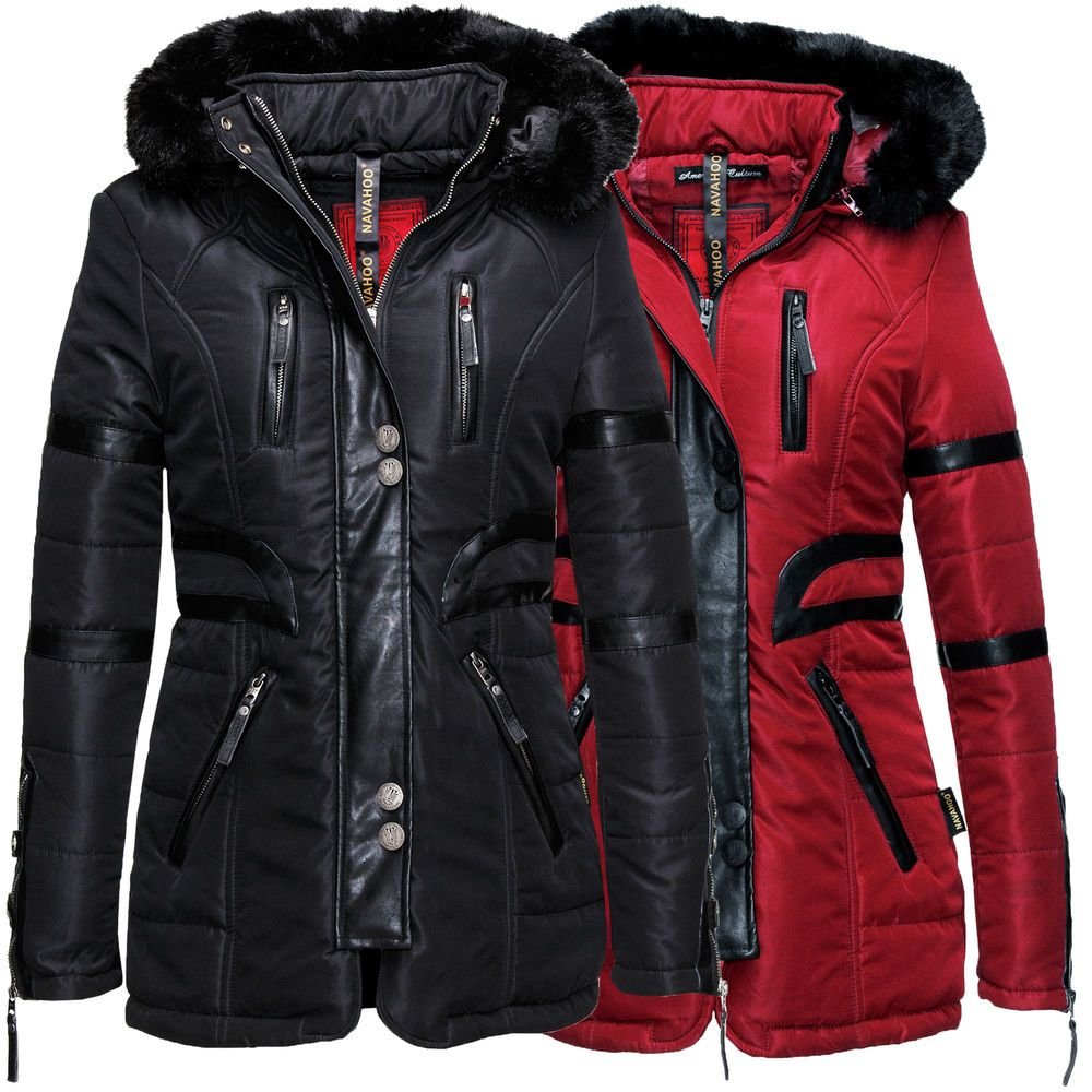 Navahoo Moon Damen Jacke Winter Mantel Parka Herbst Winter