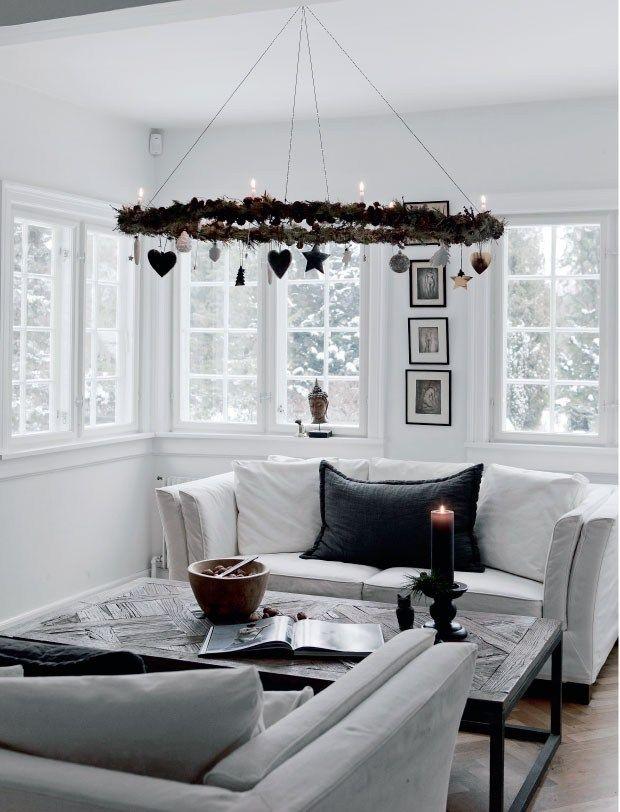 Un Noêl nordique en noir et blanc - PLANETE DECO a homes world