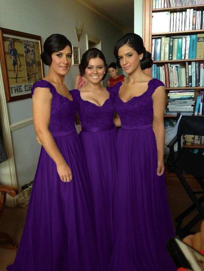 Royal purple dresses plus size