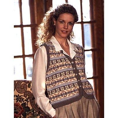 Free Intermediate Women's Vest Knit Pattern | Dream Sweaters ...