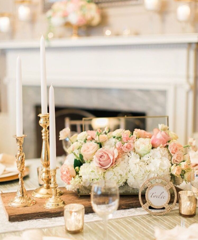 Yes please wedding wishes pinterest wedding and weddings double tap if you love this blush gold centerpiece as much as we do click the link in our bio for more gorgeous blush wedding ideas via via m4hsunfo