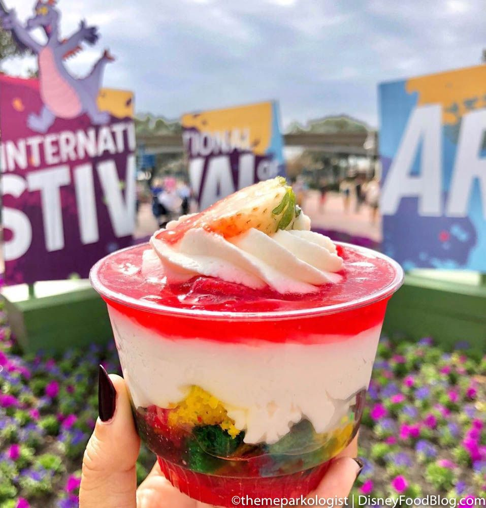 This Fan Favorite Treat Has Gotten A Colorful Twist For The Epcot Festival Of The Arts In 2020 Disney Dining Plan Snacks Disney Food Blog Food
