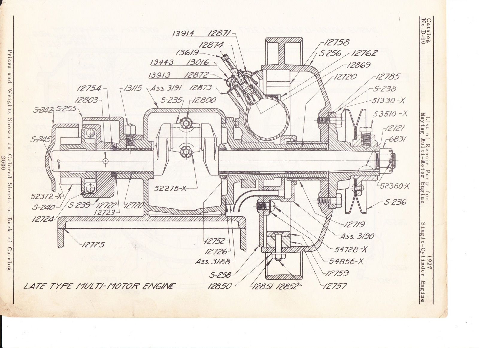 Maytag Gas Motor Diagram Of 1927 Model 92 Hit Miss Ebay Cut Away Lister Engine