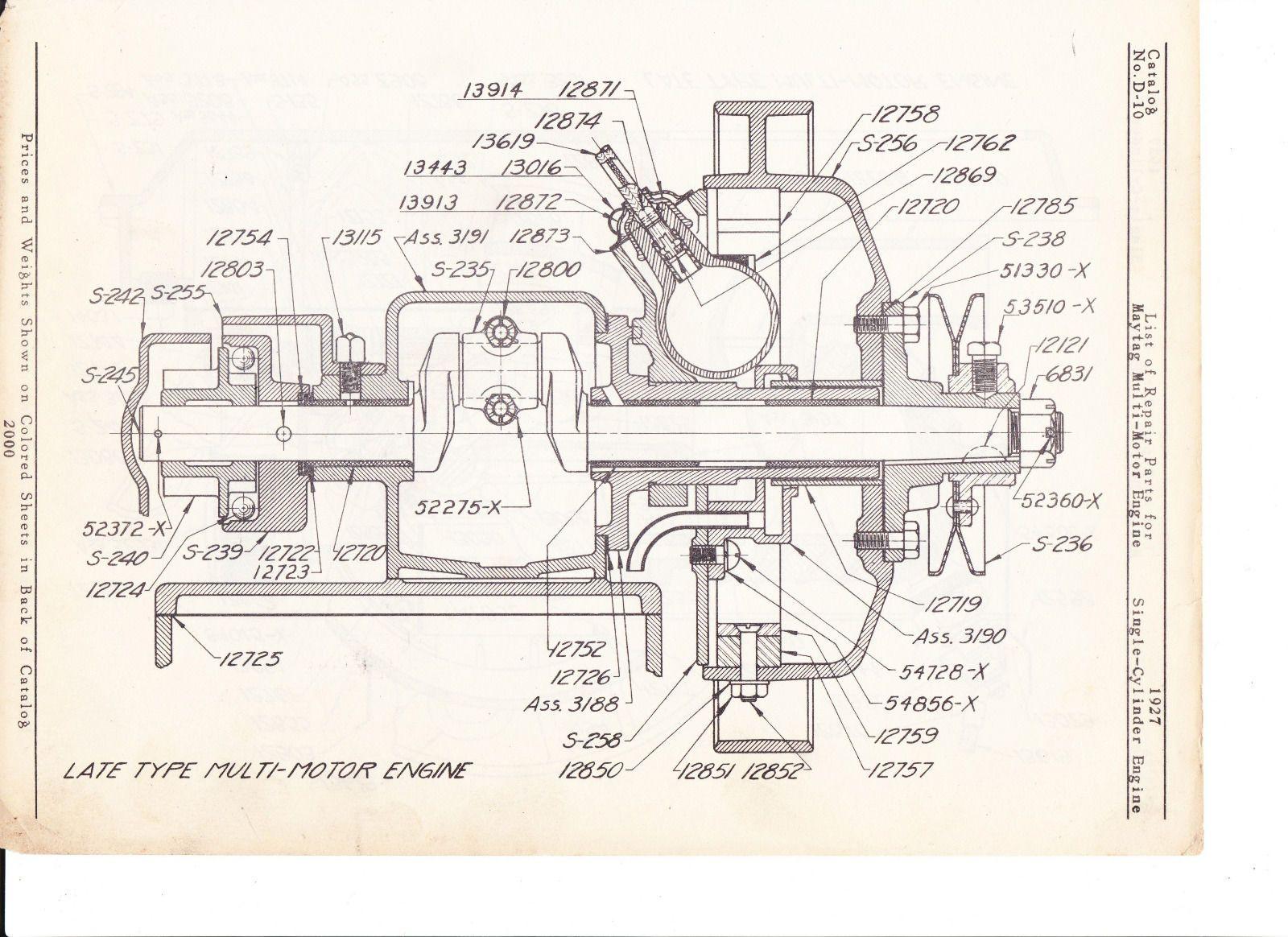 medium resolution of maytag gas motor diagram of 1927 model 92 hit miss ebay