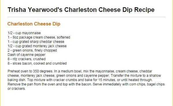 Trisha Yearwood Charleston Cheese Dip #charlestoncheesedips Trisha Yearwood Charleston Cheese Dip #charlestoncheesedips Trisha Yearwood Charleston Cheese Dip #charlestoncheesedips Trisha Yearwood Charleston Cheese Dip #charlestoncheesedips