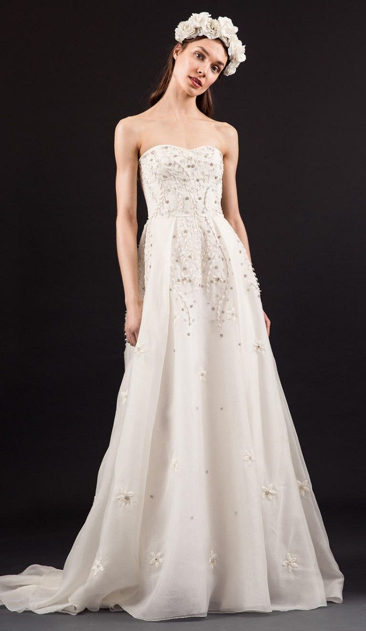 ivory beaded wedding dress with sweetheart neckline - Temperley spring 2017 wedding dresses | fabmood.com #beadedweddingdress #beaded #weddingdresses #weddingdress