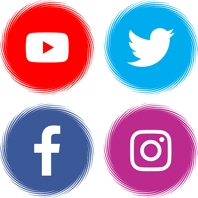 Icon image by NyiNyiHmuePaing Instagram logo, Youtube