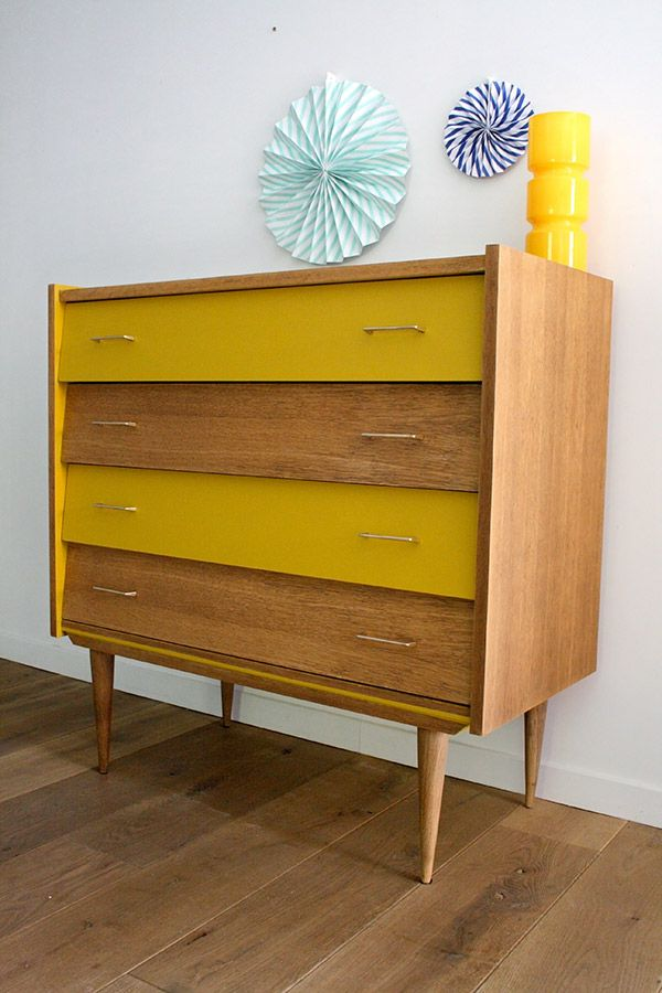 commode vintage capucine r nov et relook e par les jolis. Black Bedroom Furniture Sets. Home Design Ideas