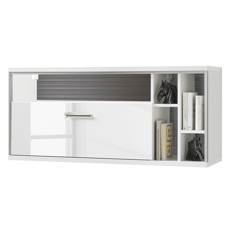 Amüsant Hängeregal Weiß Hochglanz Dekoration Von Hängeregal Kushiro - Weiß / Grau, Loftscape