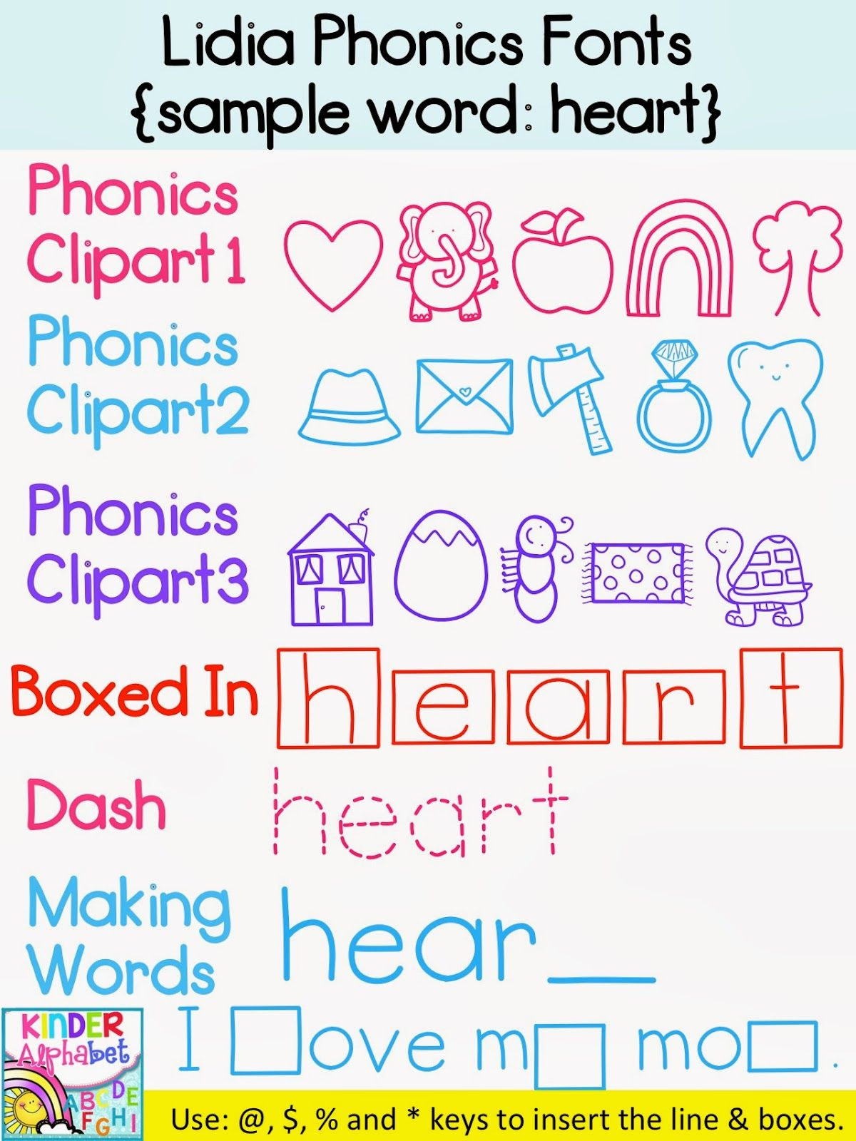Phonics Fonts for Teachers { Commercial License } | Curriculums ...