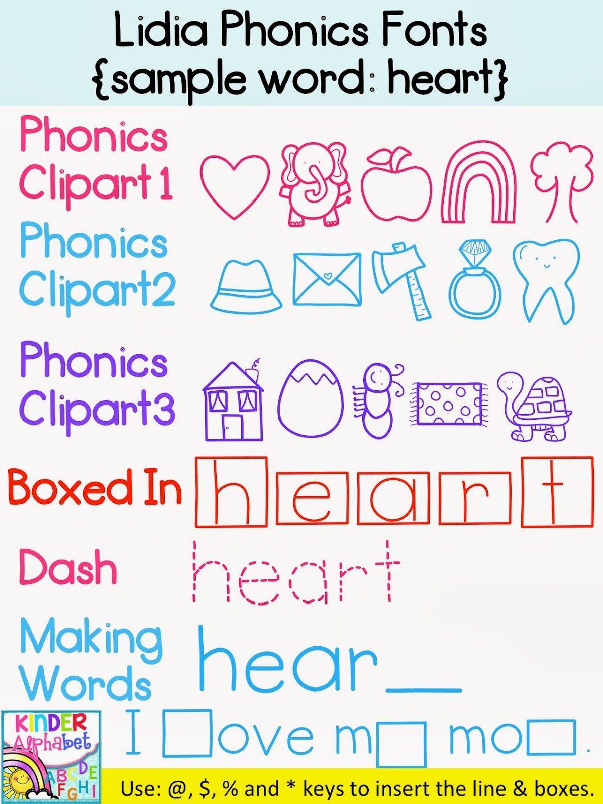 Phonics Fonts For Teachers Commercial License
