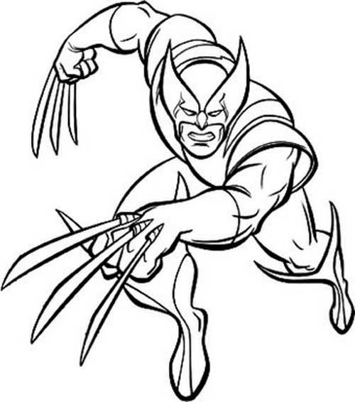 35 Desenhos Do Wolverine Para Imprimir E Colorir Em Casa Com