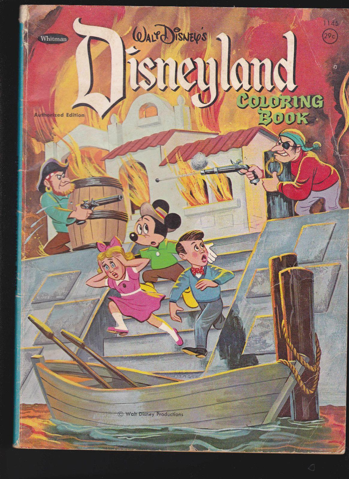 Disneyland Coloring Book Pirates Of The Caribbean