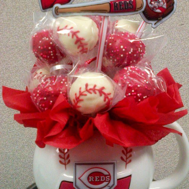 Cincinnati REDS Cake Pop Bouquets