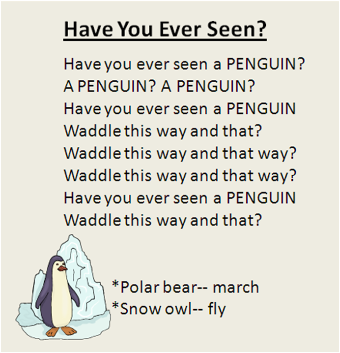 """Have You Ever Seen?"" Polar animal movement song, great"