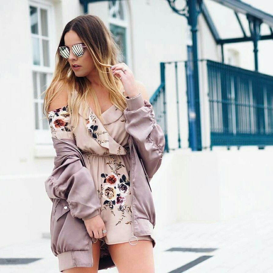Kombinezon W Stylu Boho Bezowy W Kwiaty Boho Style Women S Top Fashion Kimono Top