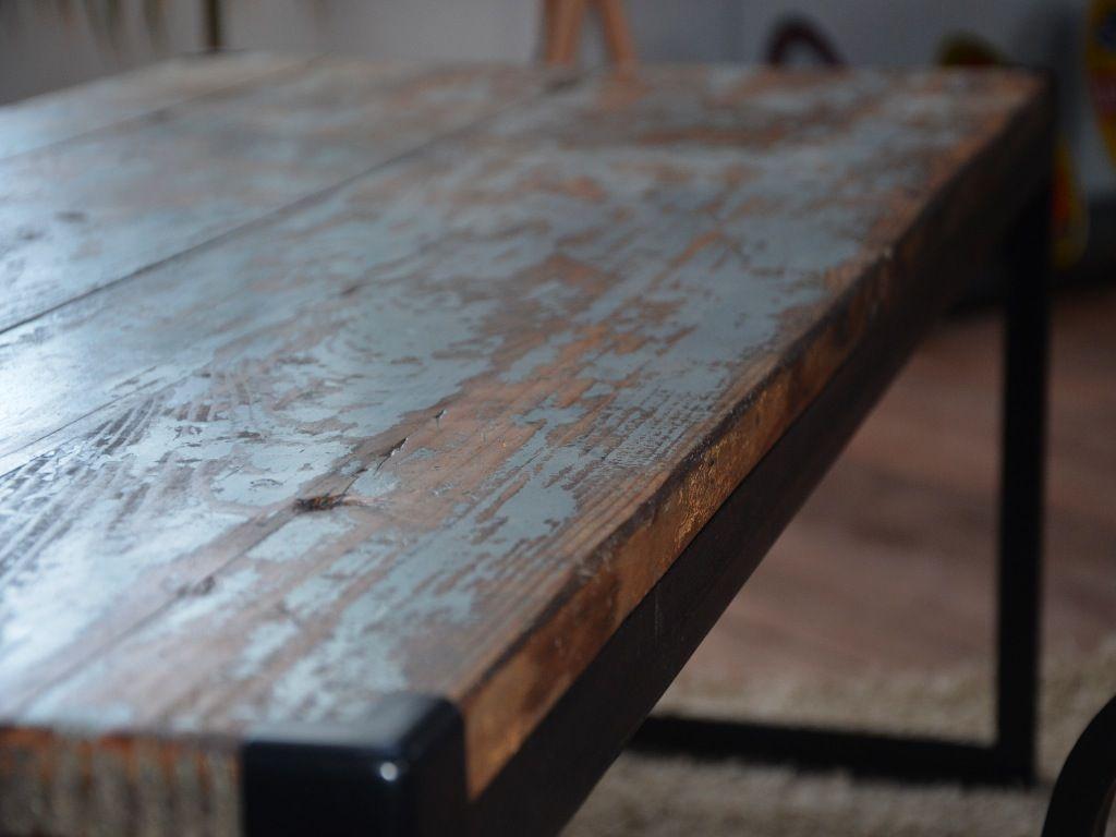 Table Bois Table Vintage Table Industrielle Table Bois M Tal Vintage Coffee Table Wood