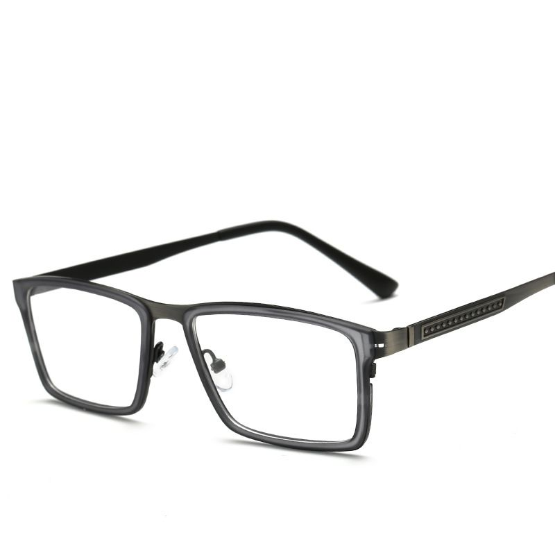 a680f89375 TR90 Spectacles Women Men Of Transparent Glasses Frame Titanium and Metal  And Vintage Eyeglasses Square Full