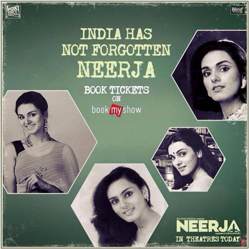 The story of India's Daughter #Neerja has been unfolded! Do catch it in #FunCinemas World Square Mall - WSM