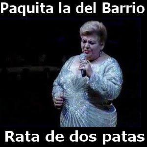 Paquita La Del Barrio Rata De Dos Patas Rata De Dos Patas Musica Mexicana Letras Y Acordes