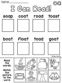 Vowel Digraph- ow Activity Sheet, English skills online ...