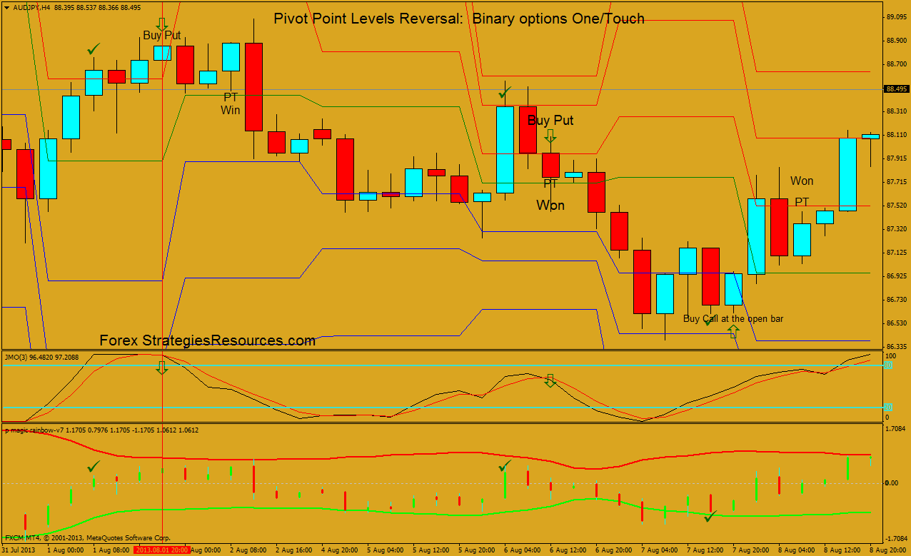 Pivot Point Levels Reversal Binary Options One Touch