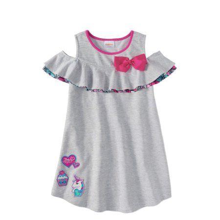 0cf02c86340 Jojo Siwa Girls  7-16 Bow Cold Shoulder French Terry Dress