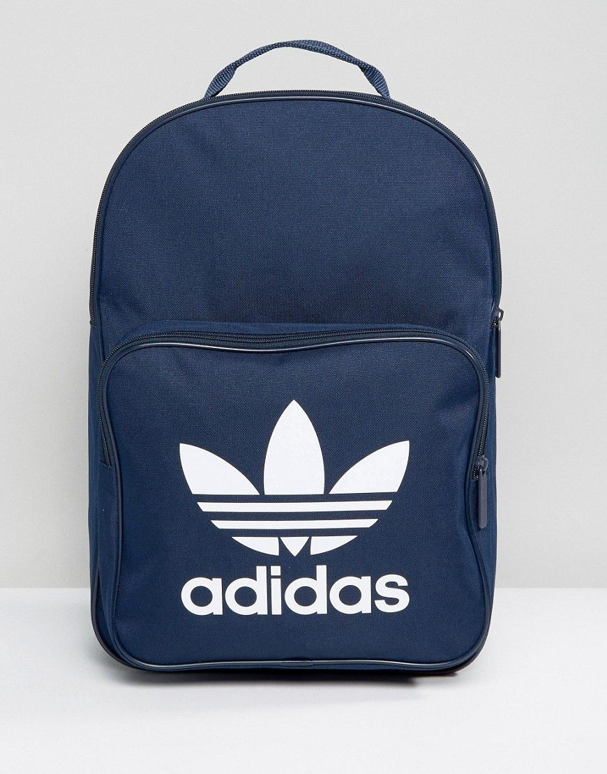 1a7a7d54a9d ADIDAS ORIGINALS TREFOIL BACKPACK IN COLLEGIATE NAVY WITH FRONT POCKET  BK6724 - NAVY.  adidasoriginals  bags  polyester  backpacks