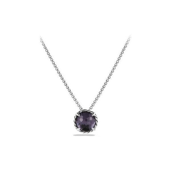 David Yurman Petite Chatelaine Pendant Necklace ($325) ❤ liked on Polyvore featuring jewelry, necklaces, lavender, pendant necklace, lavender necklace, pearl necklace pendant, petite necklaces and 18k necklace
