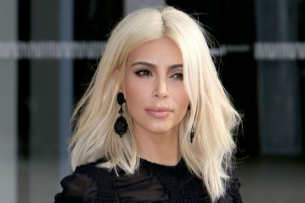 Kim Kardashian Paid Tons Of Money For Platinum Blonde Hair Wigs