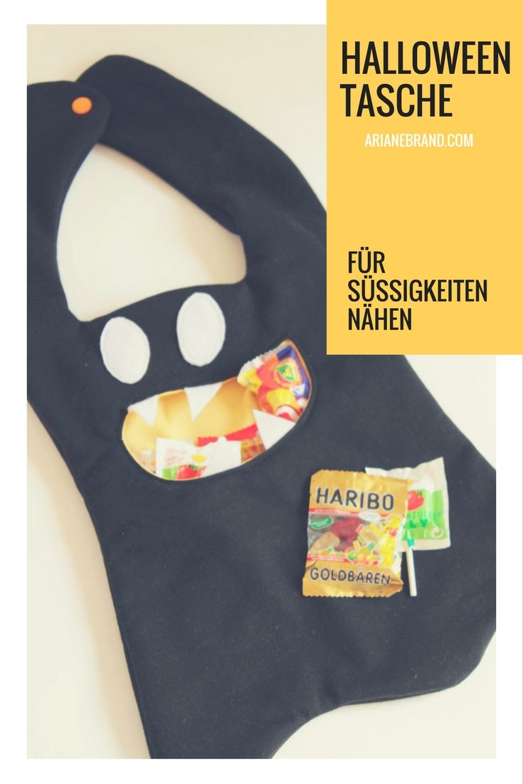 DIY: Halloweentasche für Süßigkeiten nähen - Schritt-für-Schritt ...