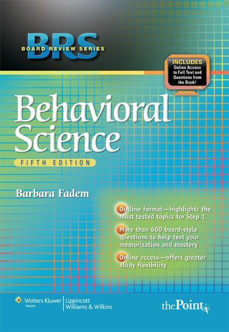 Free Medical Books Brs Behavioral Sciences 5th Edition Medical