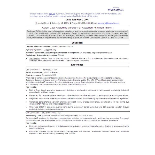 Entry Level Bookkeeper Resume Sample  HttpWwwResumecareerInfo