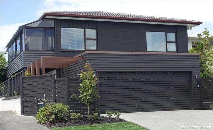 resene bokara grey walls paint pinterest exterior. Black Bedroom Furniture Sets. Home Design Ideas