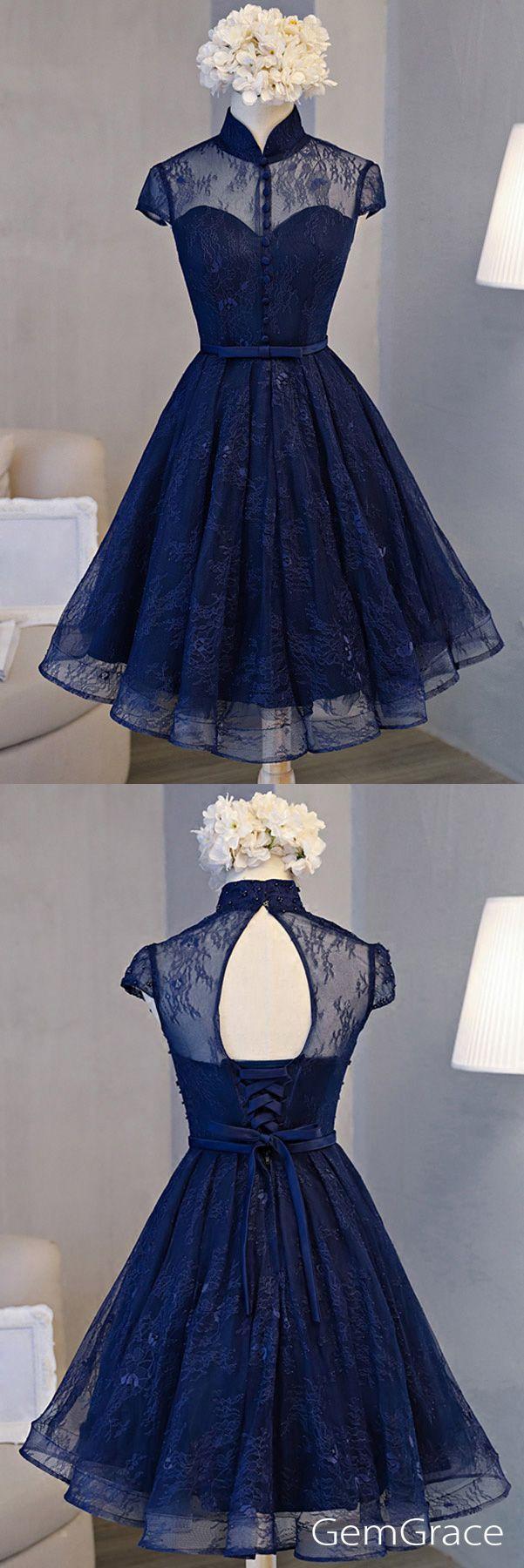 Navy blue special high neck party prom dress dress pinterest